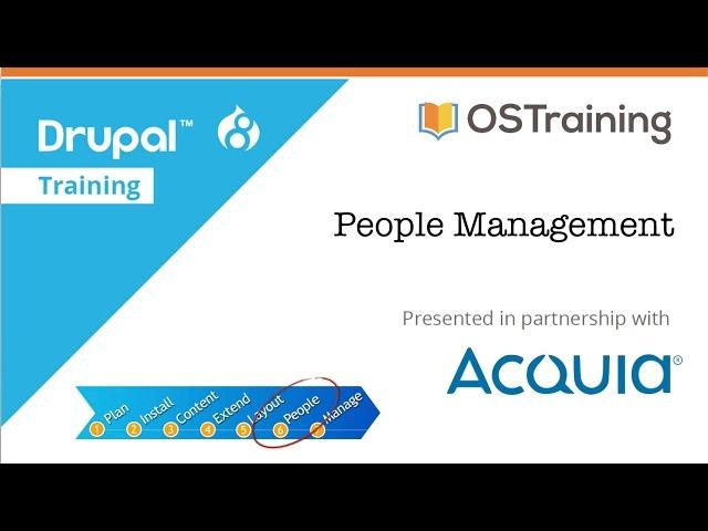 Drupal 8 Beginner, Lesson 56: People Management