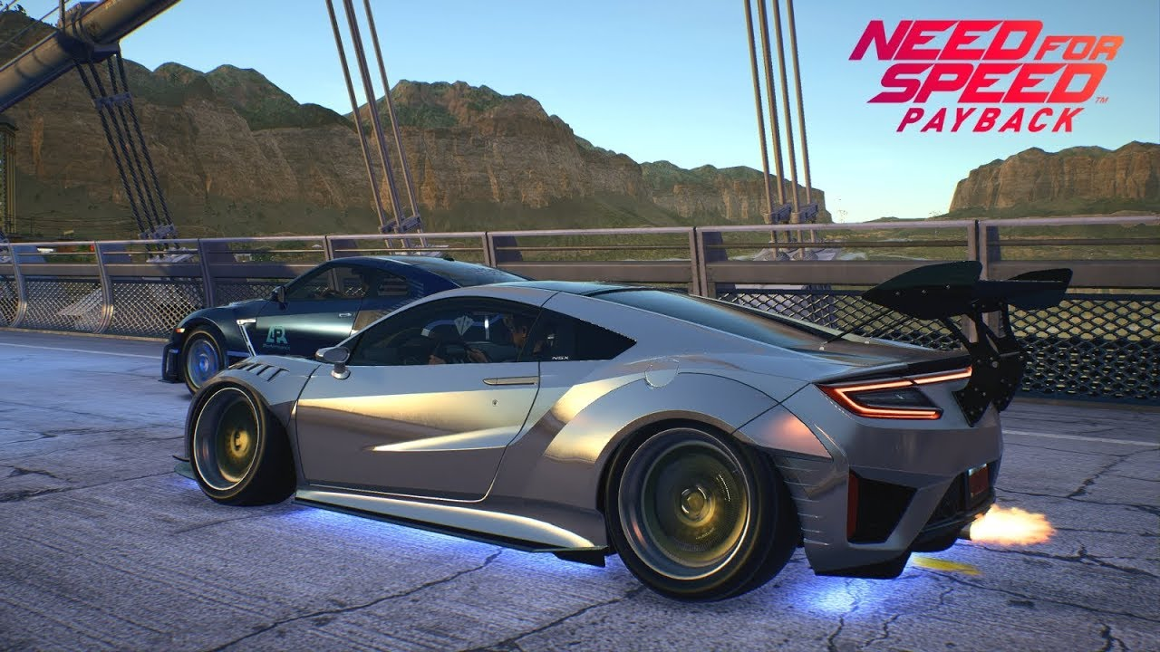 need for speed payback acura nsx 2017 drag racing vs. Black Bedroom Furniture Sets. Home Design Ideas