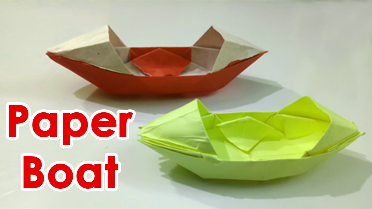 how to make a paper boat video