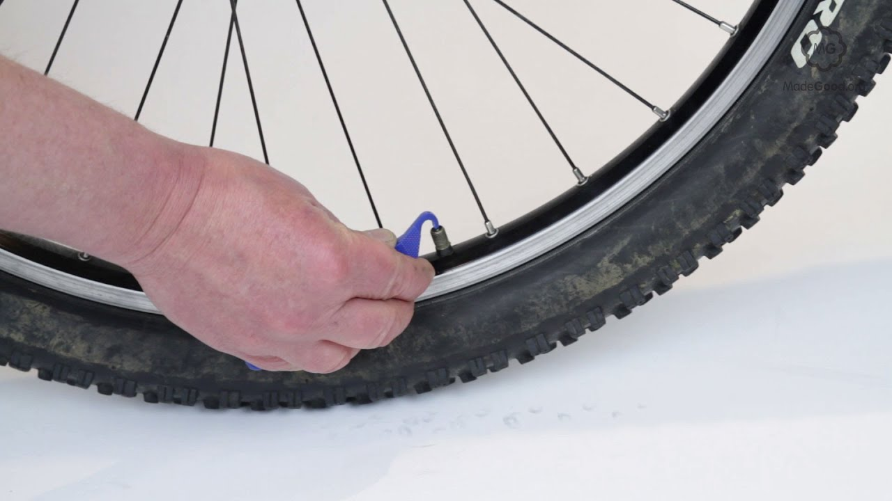 Inflate A Bike Tyre With A Schrader Valve Or Auto Valve