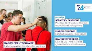 7/8 Société.  La lutte contre le Harcèlement scolaire se poursuit dans les Yvelines