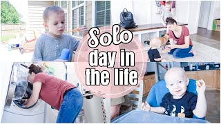 SOLO DAY IN THE LIFE OF A MOM OF 3 | SOLO MOM DAY | BOY MOM DAY IN THE LIFE