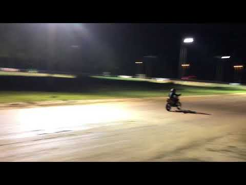 Flat track at Florida Dirt Motor Speedway. - dirt track racing video image
