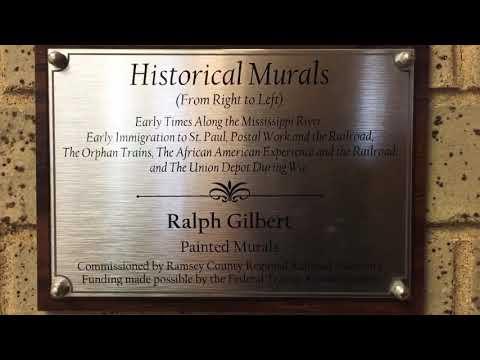 Ralph Gilbert Historical Murals In St. Paul Minnesota Union Depot