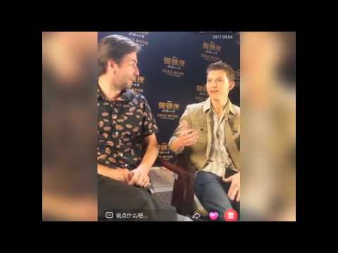 Tom Holland and Jon Watts interview in China {Fragment}