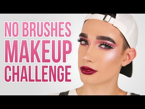 FULL FACE USING NO BRUSHES MAKEUP CHALLENGE | JCharlesBeauty