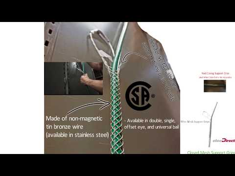 Wire Mesh Support Grips - YouTube