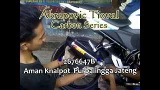 Knalpot All New CB150R Streetfire, Akrapovic Trioval Carbon Series