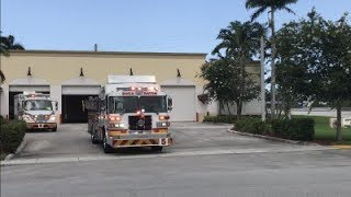 Boca Raton Fire Rescue Truck 5 and Medic 5 Response