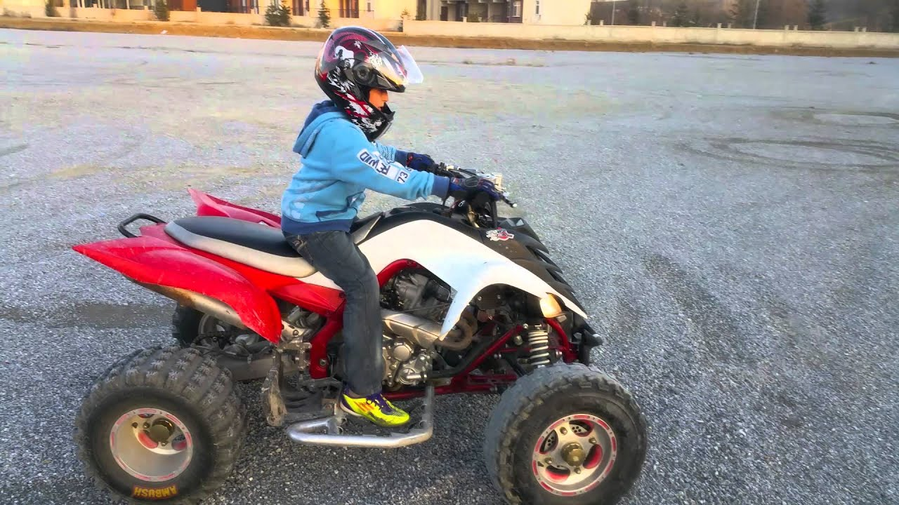 Atv yamaha raptor 700r 12 year old boy drive and drift for What year is my yamaha atv