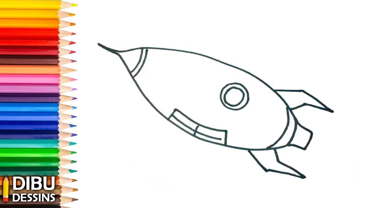 Comment Dessiner Une Fusée Dessins Faciles