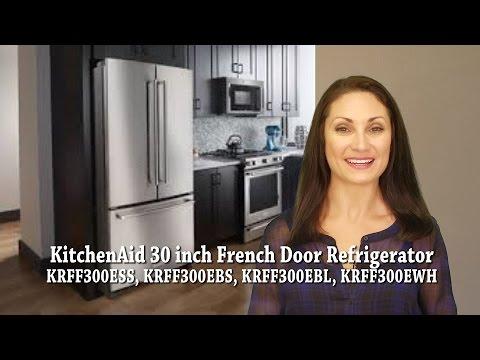 KitchenAid 30 Inch French Door Refrigerator KRFF300ESS