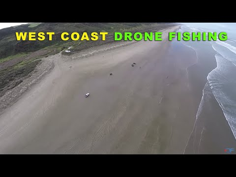 DRONE FISHING ACTION - WEST COAST NZ