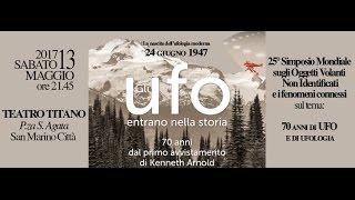 Pier Giorgio Caria - 25° Simposio mondiale - 70 ANNI DI UFO E DI UFOLOGIA - SAN MARINO