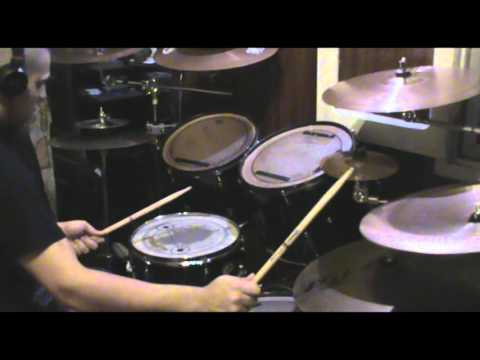 Rings of saturn shards of scorched flesh Drum cover