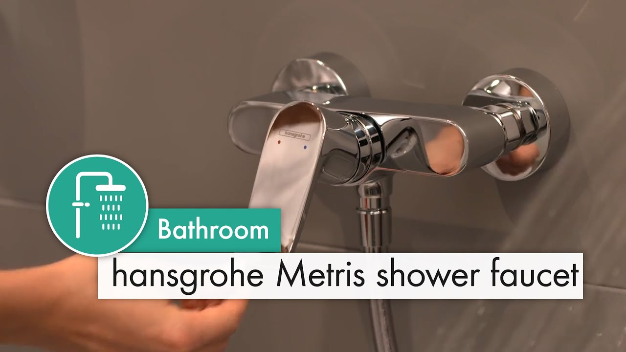 hansgrohe Metris shower mixer - YouTube