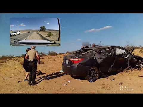UFO Seekers Comfort Ba After Car Crash In 29 Palms, CA