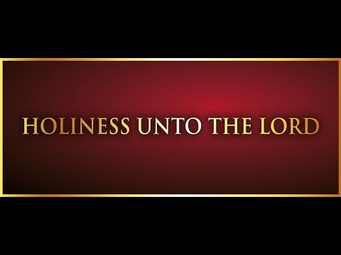 Holiness Unto The Lord by Broc Chavis - YouTube