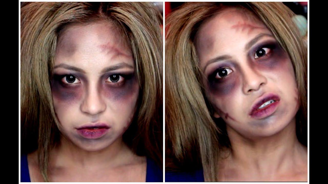 Simple & Easy Halloween Makeup ♡ Zombie, Walking Dead Person Look ...