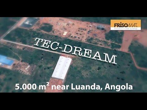 Frisomat built an industrial hangar - A 5.000 m² PET-bottle factory in Angola