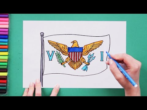 How to draw the Flag of US Virgin Islands