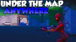 Get UNDER THE MAP ANYWHERE in Fortnite EASY! Season 7 GLITCH! - Easy Under The Map GLITCH!