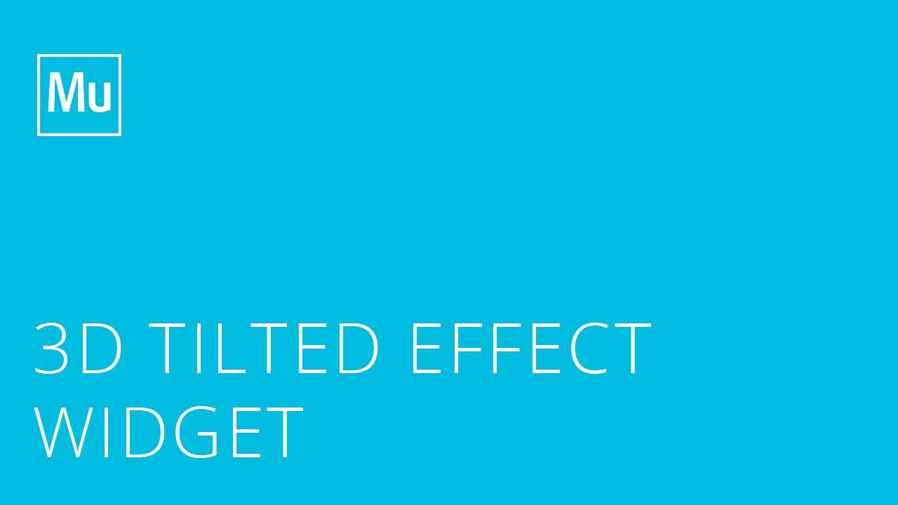 3D Tilted Effect – Tutorial