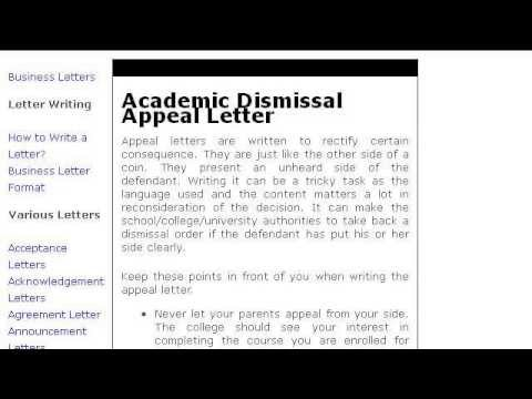 how to write an appeal collection letter
