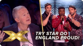 Try Star do England proud with rousing rugby anthem!   Live Week 2   X Factor: Celebrity