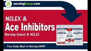 Cardiac Lecture 18 Nursing KAMP's Scribble Notes Cardiac Ace Inhibitors Lisinopril Captropril  NVC18