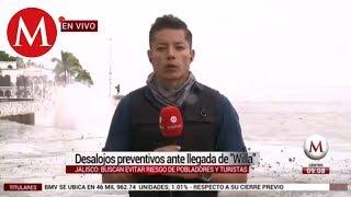 EN VIVO: Desalojos preventivos ante llegada de 'Willa' en Jalisco