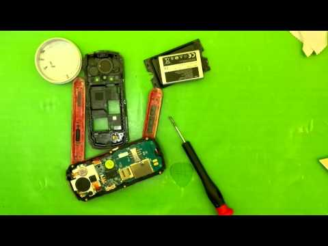 Waterproof Samsung B2100 disassembly, very simple