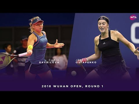 Daria Gavrilova vs. Jelena Ostapenko | 2018 Wuhan Open Round One | WTA Highlights 武汉网球公开赛