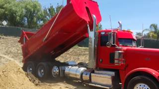 Cowboy trucking peterbilt 388 super 10 dump truck