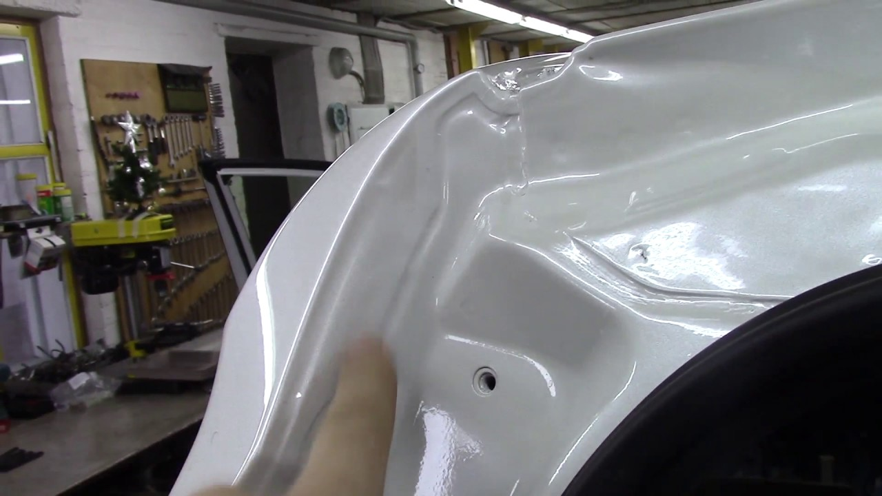 Кузовной ремонт. Тойота RAV 4, покраска крыши.  Body repair.