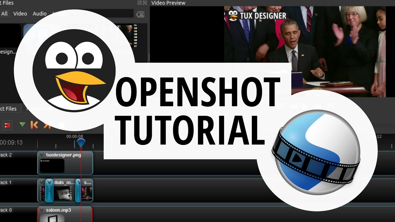 OpenShot Video Editing Beginner Tutorial