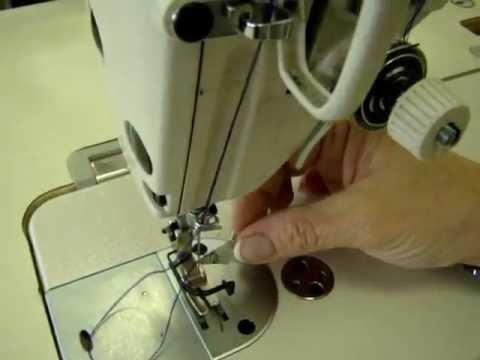 Отделочная строчка в 3 сложения ниток с одной бабины