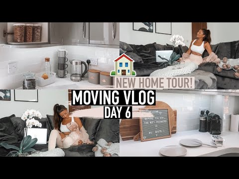 OUR NEW HOME TOUR - DOWNSTAIRS! KITCHEN UPDATE & LOUNGE REVEAL · MOVING VLOG Day 6 | Emily Philpott
