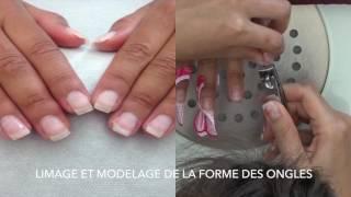 extension des ongles naturel gel french, méthode aux chablons
