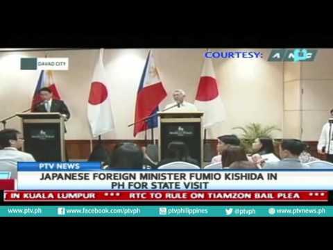 [PTVNews] Japanese Foreign Minister Fumio Kishida in PH for state visit