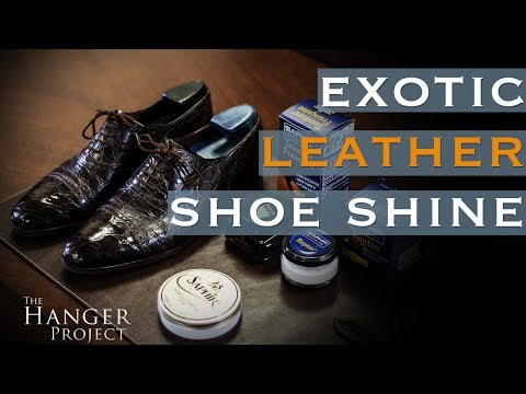 How to Polish Reptile Leather Shoes | Exotic Leather Shoe Care