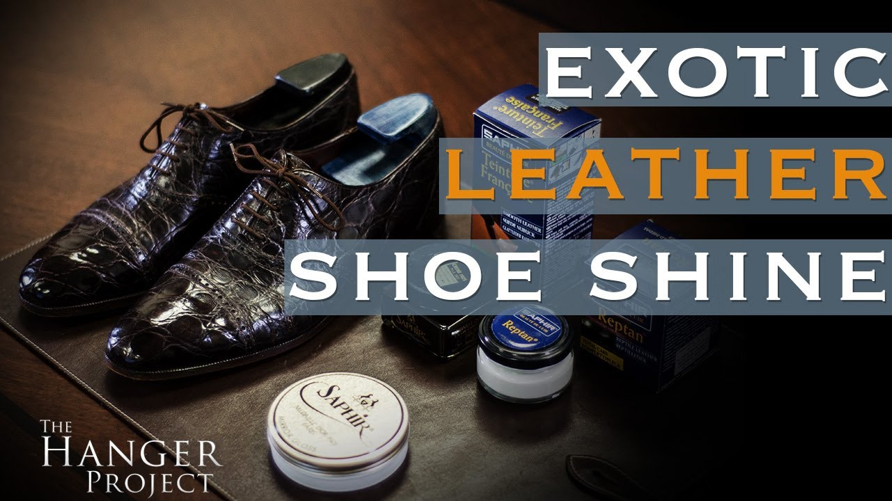 How To Polish Reptile Leather Shoes Exotic Leather Shoe