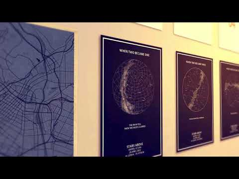 Custom Wooden Star Maps / City Maps
