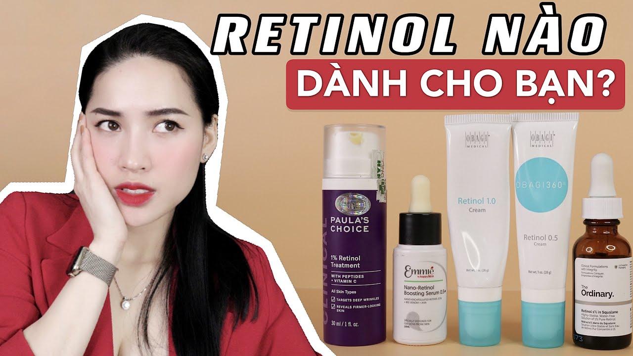 [REVIEW] TOP 4 Retinol ĐÌNH ĐÁM ! Từ bình dân đến đắt đỏ | Sản phẩm nào dành cho bạn?