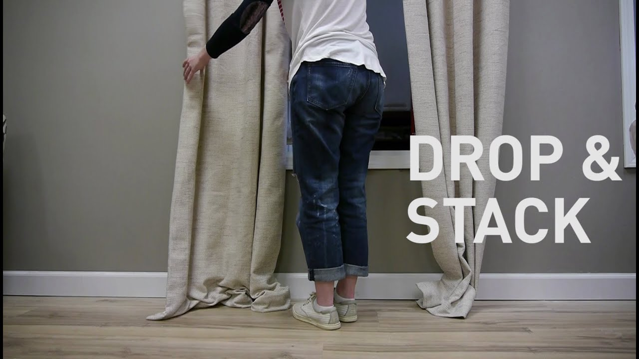 Curtain lengths puddle - How To Style Puddled Draperies Stacked Puddle