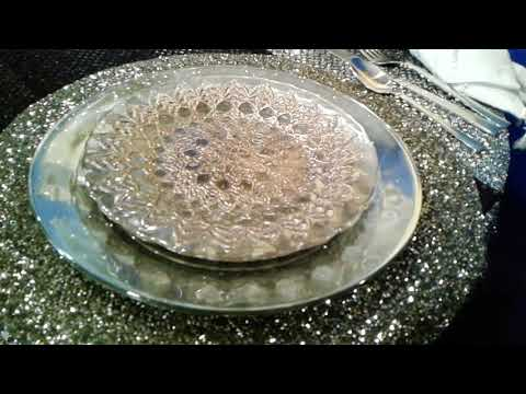 DIY Mirrored Glam Plates from the Dollar Tree!