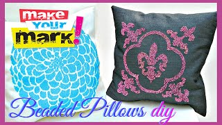How to: Beaded Pillows (without beading)