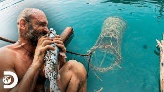¡Primitivo! Ed pesca como lo hacían los mayas | Ed Stafford al extremo | Discovery Latinoamérica