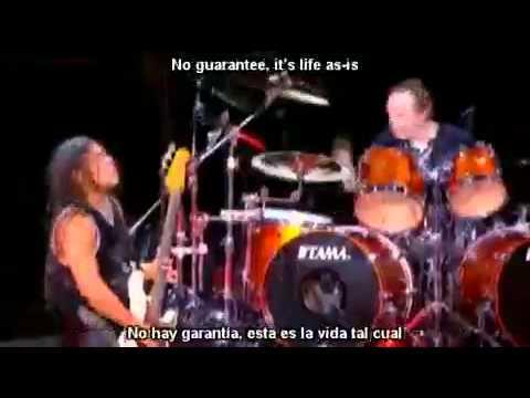Metallica   Dyers Eve lyrics y subtitulos en español)