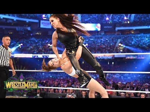 Ronda Rousey s no mercy against Stephanie McMahon in her WWE inring debut: WrestleMania 34